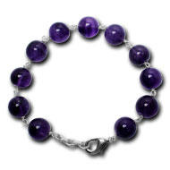 Amethyst Round Bracelet