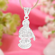 Ayyappa Pendent in pure silver - I