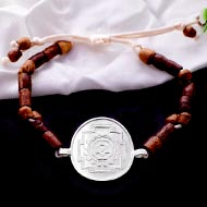 Baglamukhi Yantra Bracelet in Silver