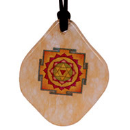 Baglamukhi Yantra Pendant on Yellow Jade