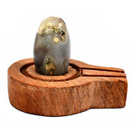 Bana Lingam with Stone Yoni base - XXXI