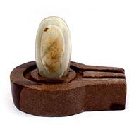 Bana Lingam with Stone Yoni base - I