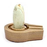 Bana Lingam with Stone Yoni base - III