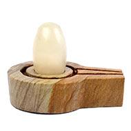 Bana Lingam with Stone Yoni base - XIII
