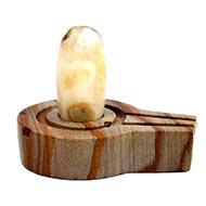 Bana Lingam with Stone Yoni base - XXXIV