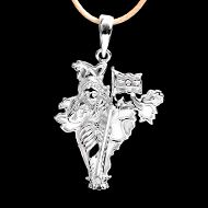 Bharat Mata in Pure Silver