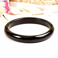 Black Agate Bangle - II
