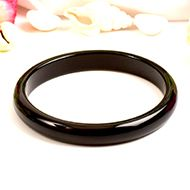 Black Agate Bangle - IV