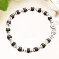 Black Tulsi Beads Bracelet