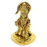 Blessing Hanuman Idol in Brass - II
