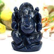 Blue Jade Ganesha - 195 gms