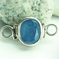 Blue Sapphire bracelet in pure silver
