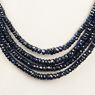 Blue Sapphire Necklace - 4 turn