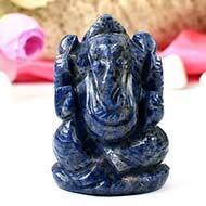 Blue Sodolite Ganesha - 108 gms