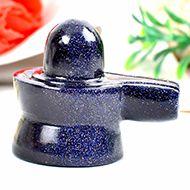 Blue Sunstone Shivaling - 43 gms - I