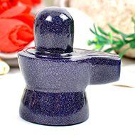 Blue Sunstone Shivaling - 70 gms