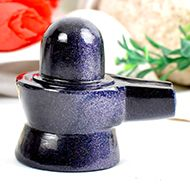 Blue Sunstone Shivaling - 76 gms