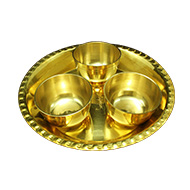 Brass Plate with Large Bowls