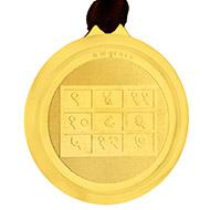 Buddh Yantra Locket - Gold Plated