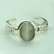 Cat's Eye Ring in pure silver