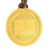 Chandra with Matangi Devi Yantra Locket - Gold Plated