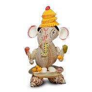 Chaturbhuj Cowrie Ganesh