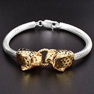Cheetah Headed Kada in Pure silver