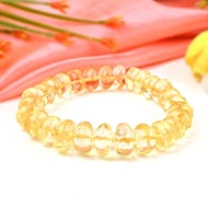Citrine Bracelet - Elliptical Beads
