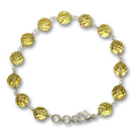 Citrine Faceted Bead Bracelet - Design I