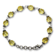Citrine Faceted Bead Bracelet - Design II