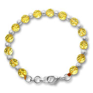 Citrine Faceted Bead Bracelet