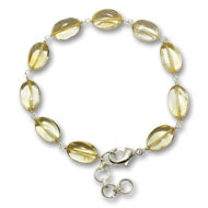 Citrine Oval Bracelet - Design I