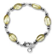 Citrine Oval Bracelet - Design III