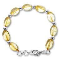 Citrine Oval Bracelet - Design IV