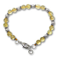 Citrine Round Bracelet - Design I