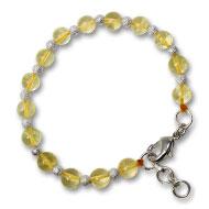 Citrine Round Bracelet - Design II
