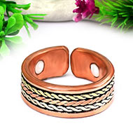 Adjustable Pure Solid Copper Ring
