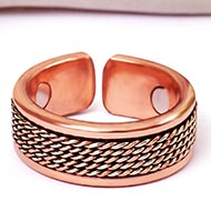 Sterling Silver and Copper Band Ring