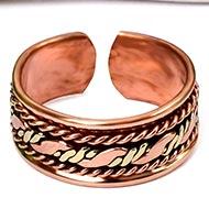 Studded Ribbon Design Copper Ring