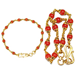 Coral bracelet in gold - 6mm