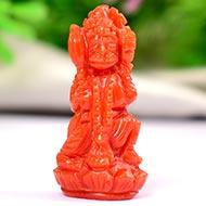 Coral Hanuman - 20.35 Carats