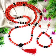 Coral mala and bracelet (Root)
