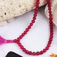 Dark Pink Jade Round mala - 6mm