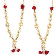 Deity bead Garlands - Set of 2 - Design XIX