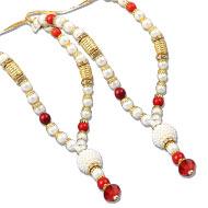 Deity bead Garlands - Set of 2 - Design XXI
