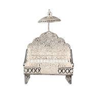 Deity throne in pure silver - I - Small