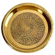 Pooja Plate in Brass