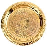 Designer Brass Plate for Pooja Room