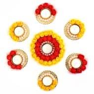 Designer Flower Diya