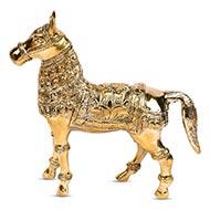 Designer Horse In Brass